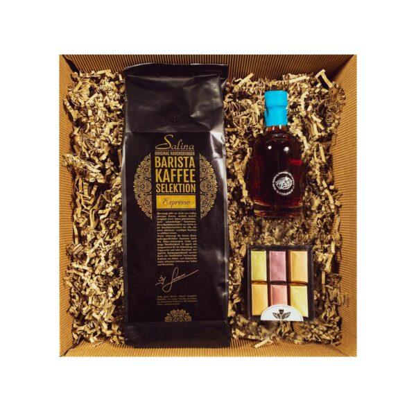Das Kaffee Geschenkset vom Salina Coffee Center wurde speziell für Kaffeeliebhaber zusammengestellt.