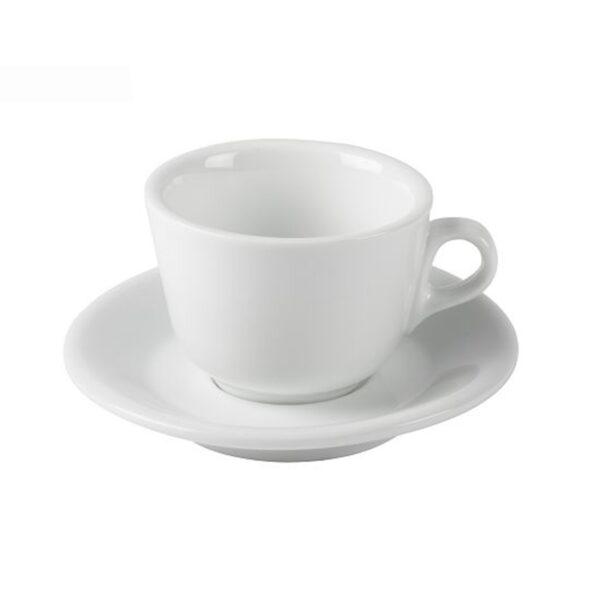 Die Cappuccino Tasse in weiß von Salina ist die perfekte Ergänzung zu Ihrer Kaffeemaschine.