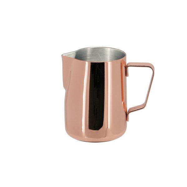 Das JoeFrex Milchkännchen in Kupfer ist modern und edel.