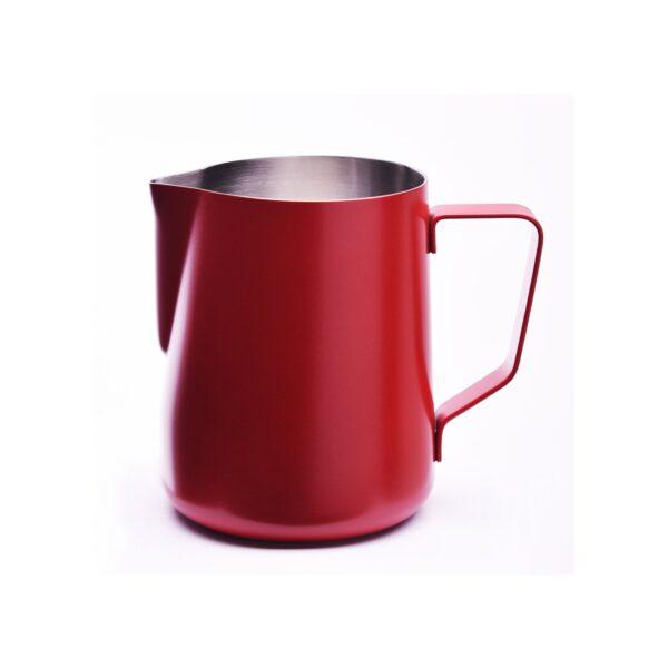 Mit dem JoeFrex Milchkännchen in rot erhalten Sie perfekten Milchschaum für Latte Art.