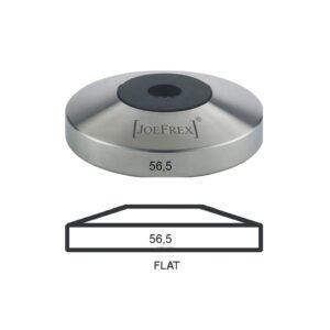 Das flache Tamper Unterteil der Marke JoeFrex mit einem Durchmesser von 56,5mm passt unter alle Tamper von JoeFrex.
